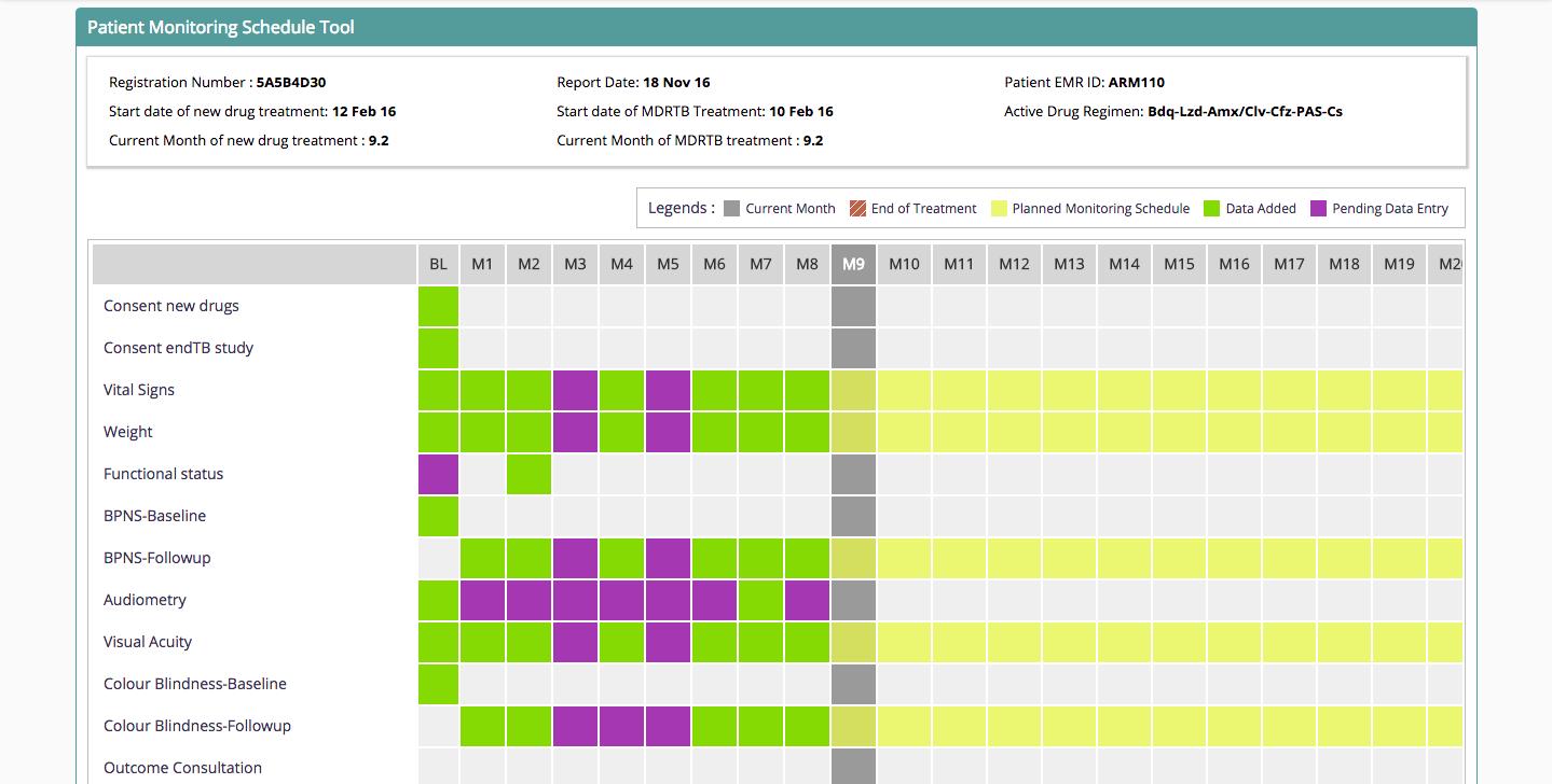 Patient Monitoring Flowsheet