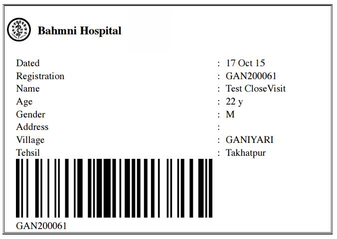 Sample Barcode Print
