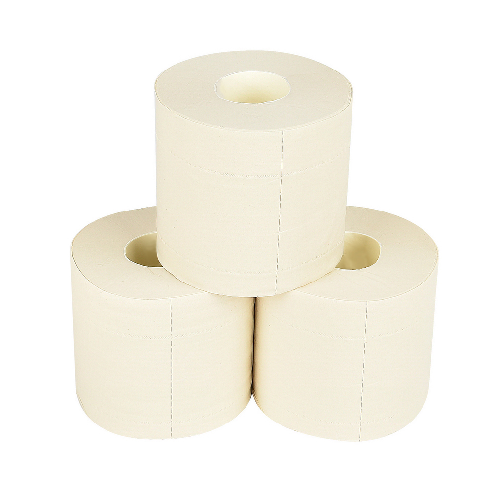 Bath Tissue - 2 ply 400 sheet Single roll Premium White Bath Tissue // Case of 48 rollsMade from a blend of sugarcane and bamboo fibers. Soft, white, and absorbent. Fast-dissolving, safe for all septic systems.