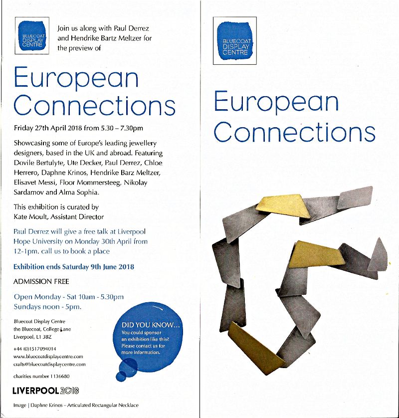 European Connections, Bluecoat Display Centre Liverpool