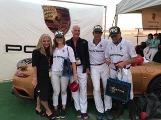 Winning team Porsche San Diego MVP Riley Ganzi, Juan Bollini and Mike Azzaro with Kathy and Alan Kent.