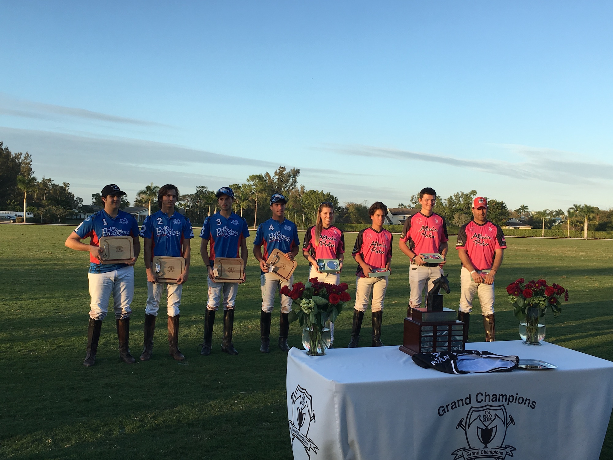 Aspen Valley 8-Goal Cup finalists Patagones and Altair.