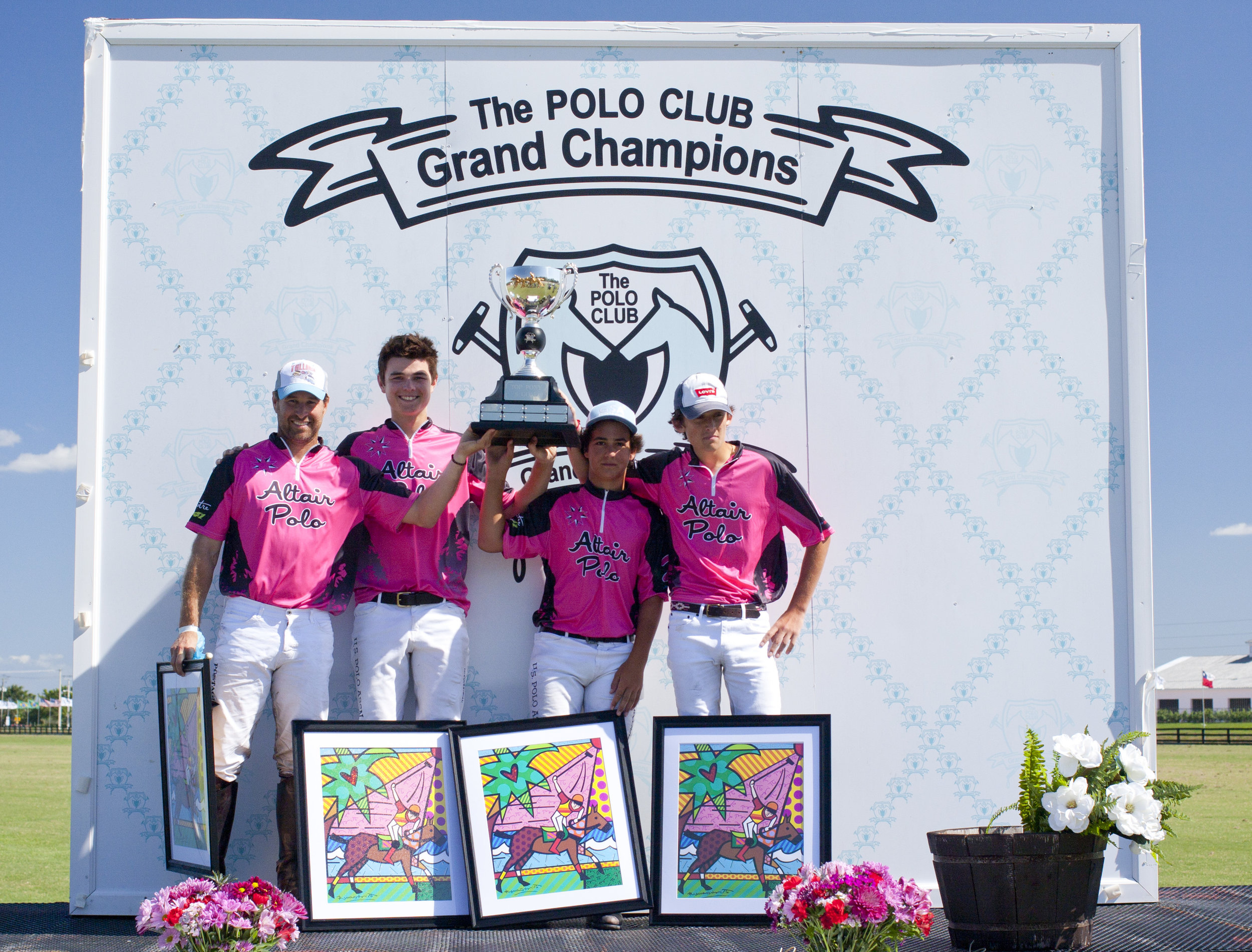 Altair Polo winning teammates Brandon Phillips, Henry Porter, Keko Magrini and Christian Weisz.