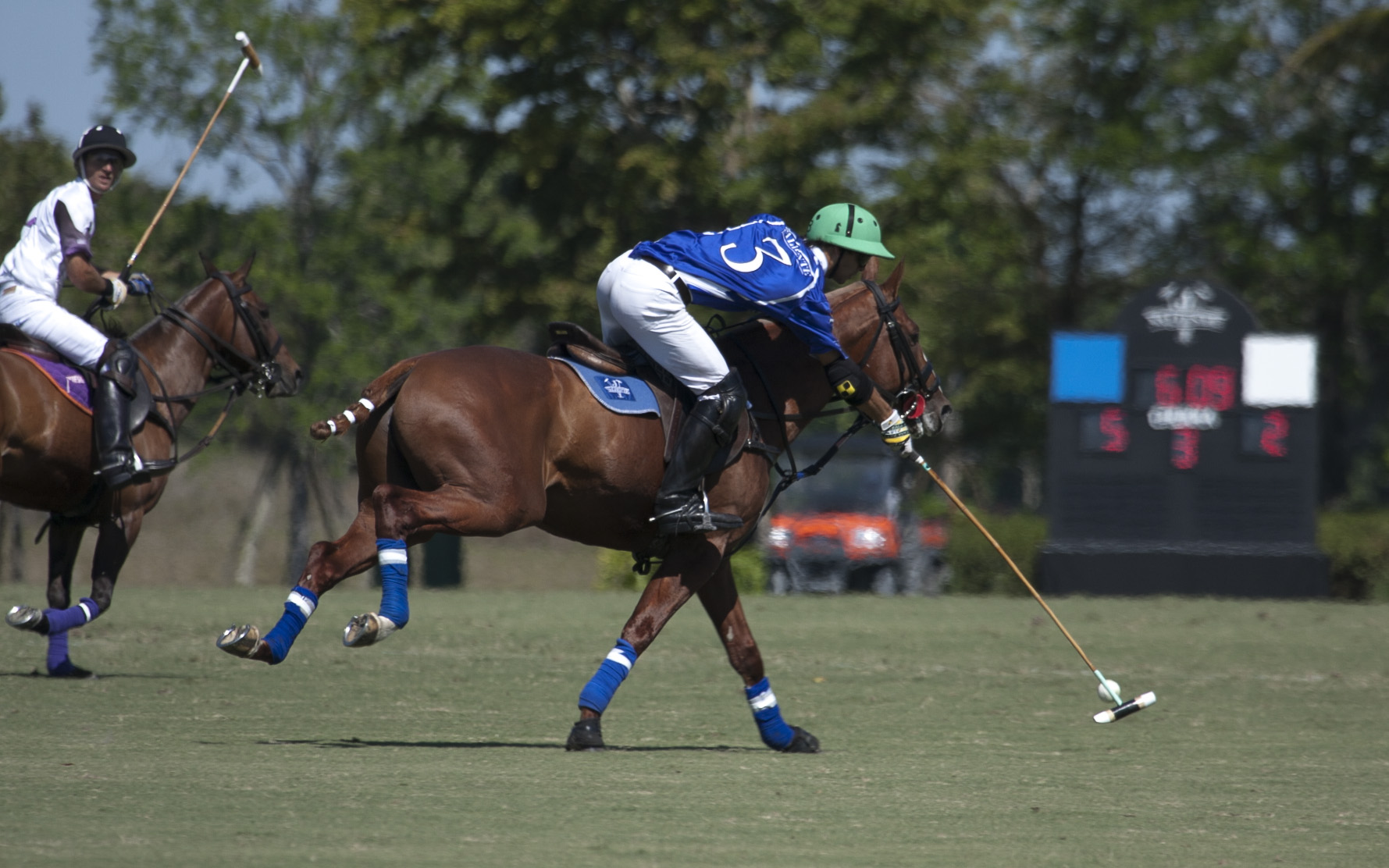 Juan Britos of Valiente on his way to scoring one of his six game-high goals.