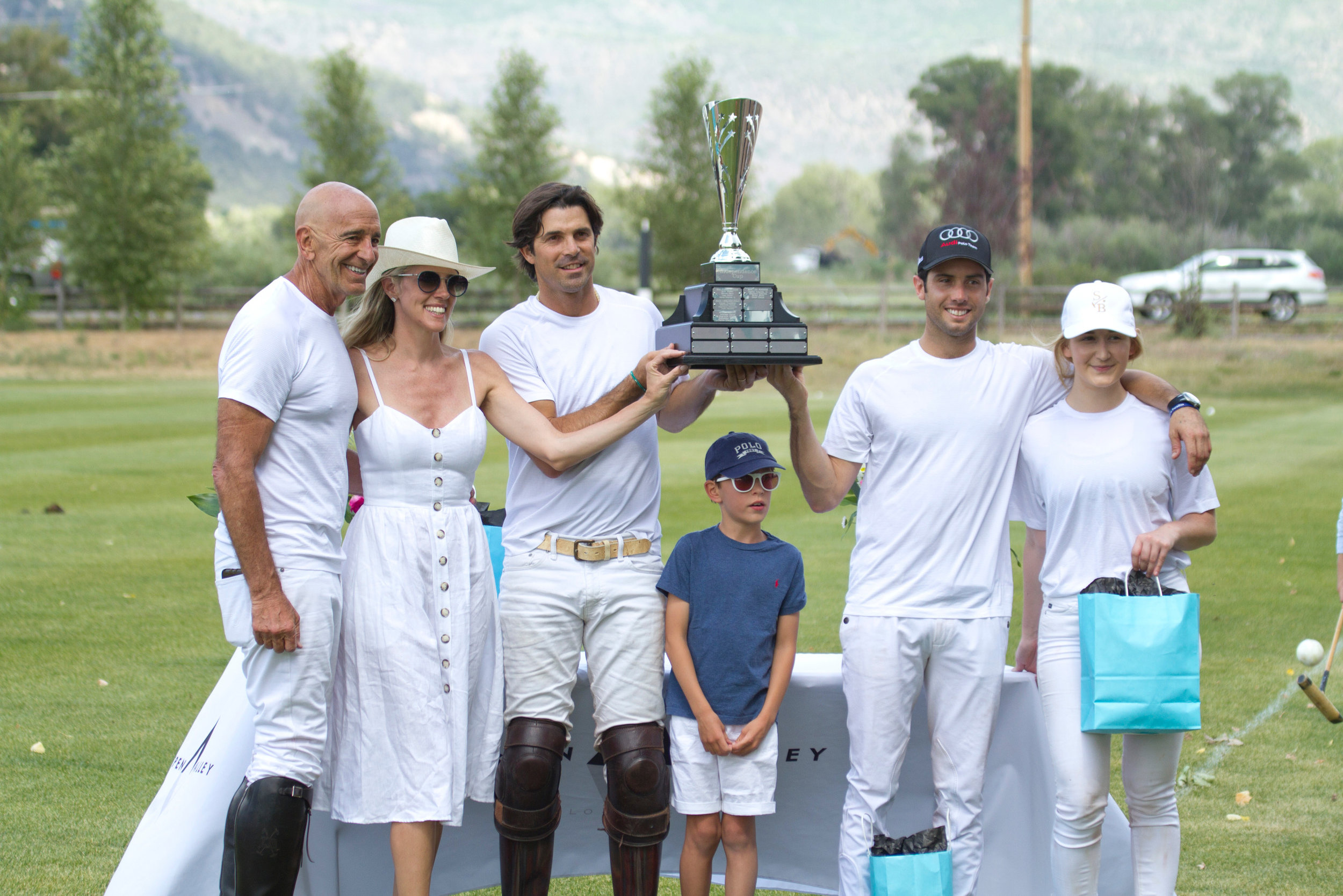 Winning team Piocho players Tom Barrack, Nacho Figueras, Carlitos Gracida and Riley Ganzi.