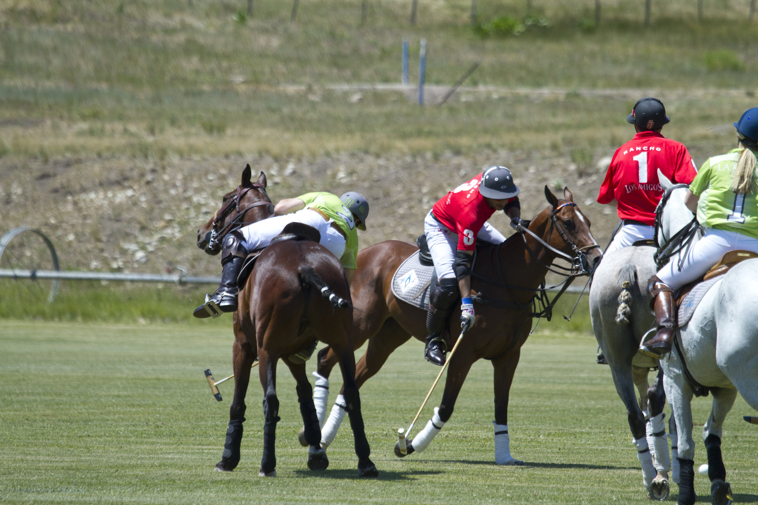 Brian Boyd of La Karina leans out of his saddle for t.JPG