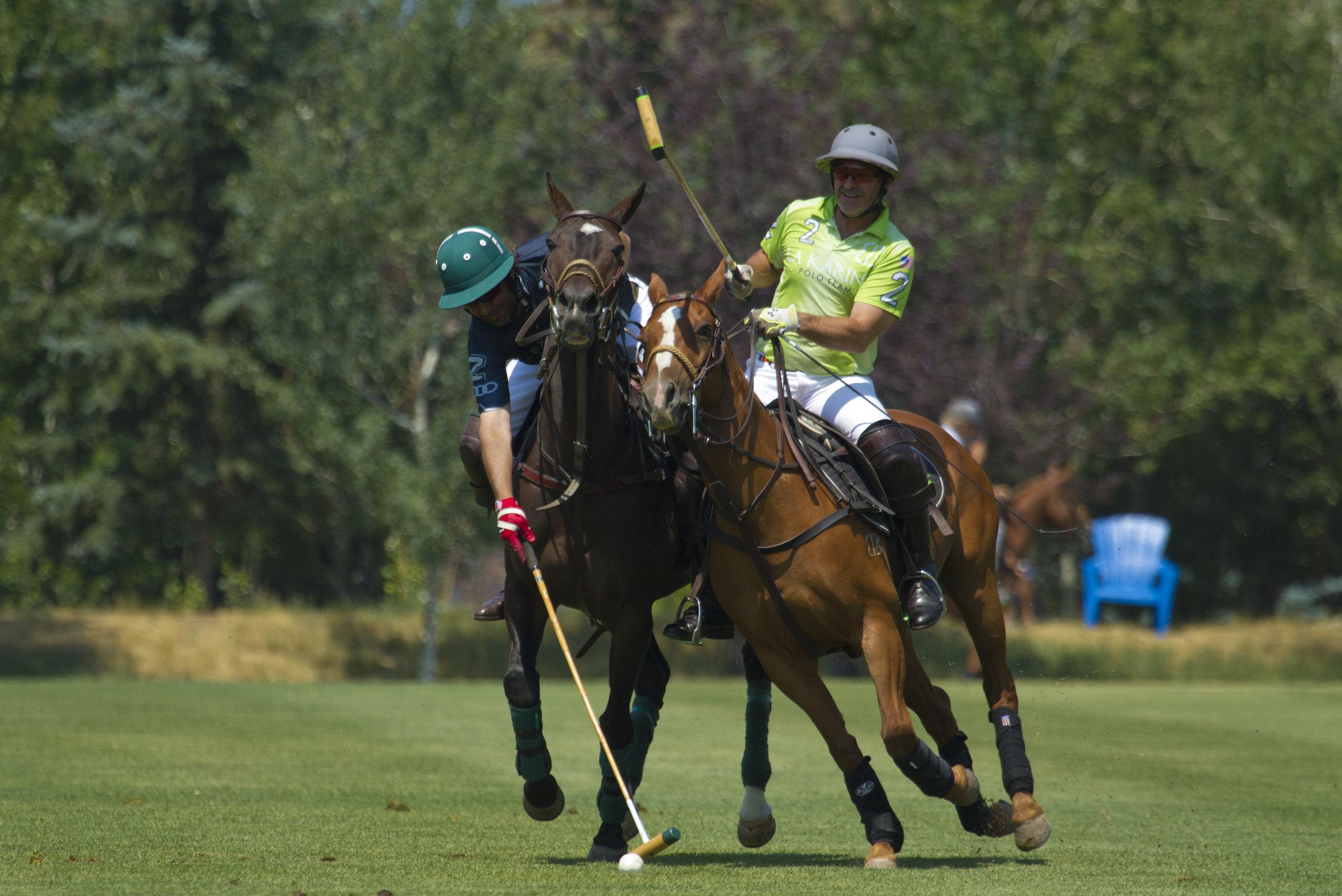 Brian Boyd of La Karina tries to ride off .JPG