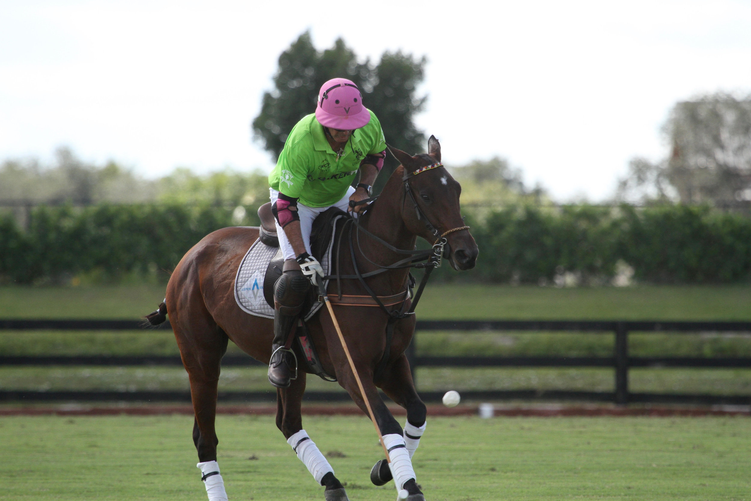 Juan Bollini of ChukkerTV works the ball in the air. .jpg