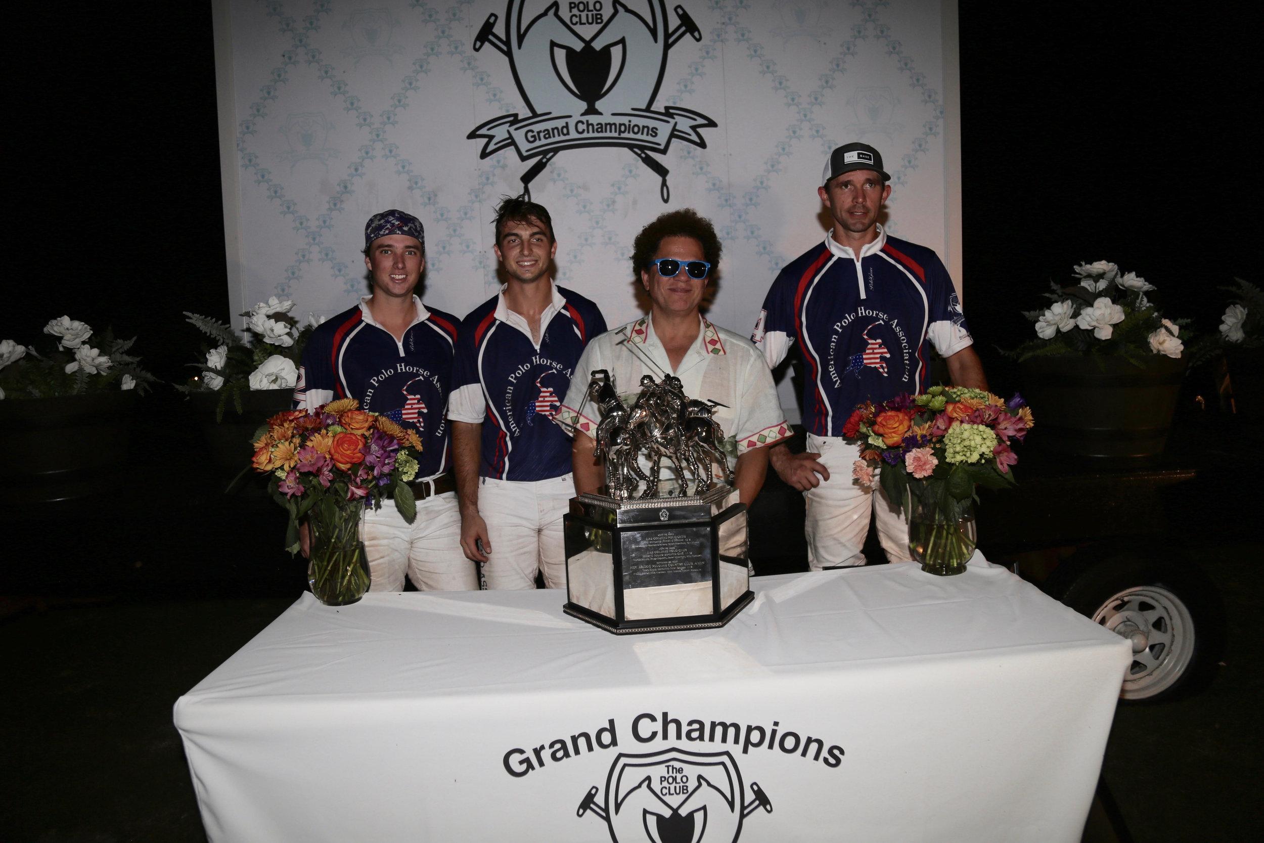 Triple Crown of Polo champions American Polo Horse with re-known Brazilian artist Ramiro Britto.