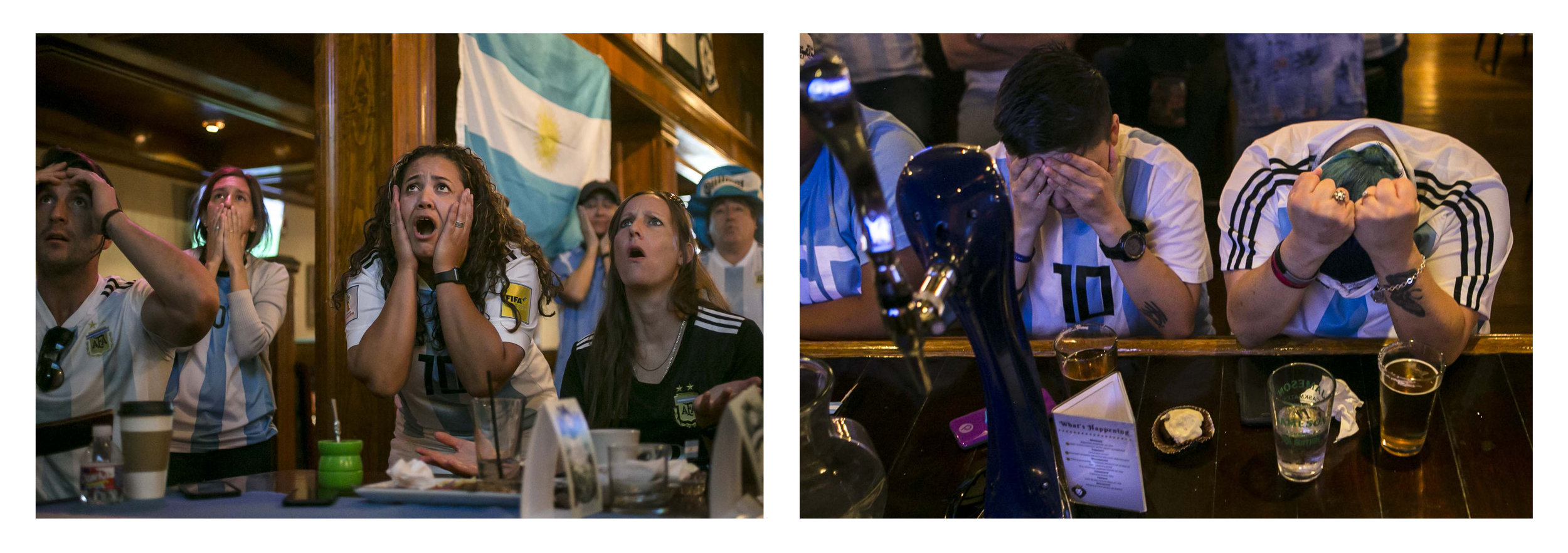 World Cup opening game Argentina vs. Iceland watch party in San Antonio, Texas. June 2018.