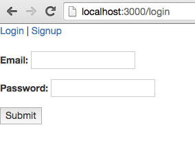 Our login form