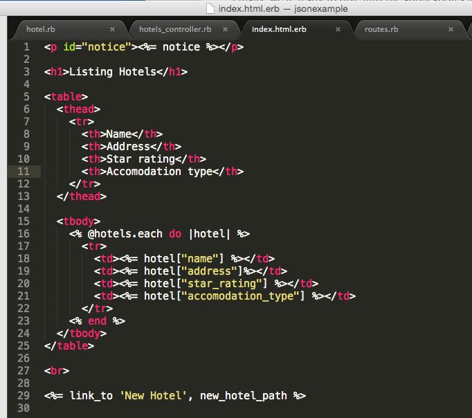 Rails code