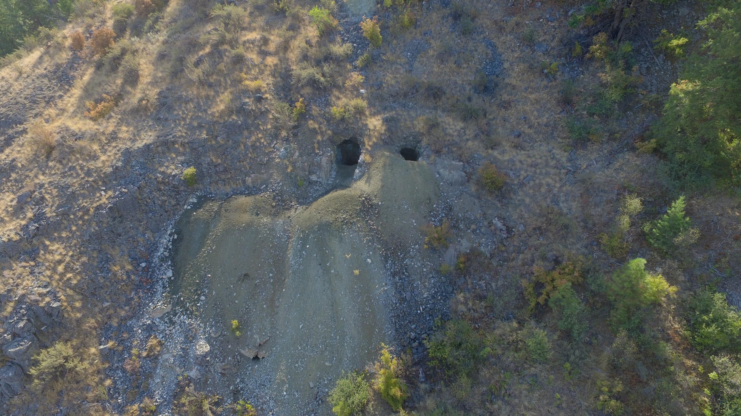 Old Mine Shafts at Rebecca Lake