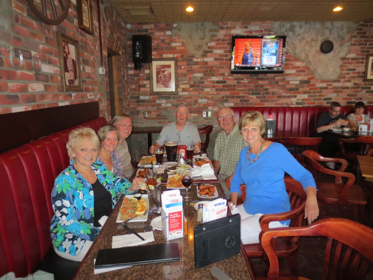 One of the 'planning sessions' with Tris & Sunny White, Phil & Sue Kinnie, and Fred & Sue Bowser