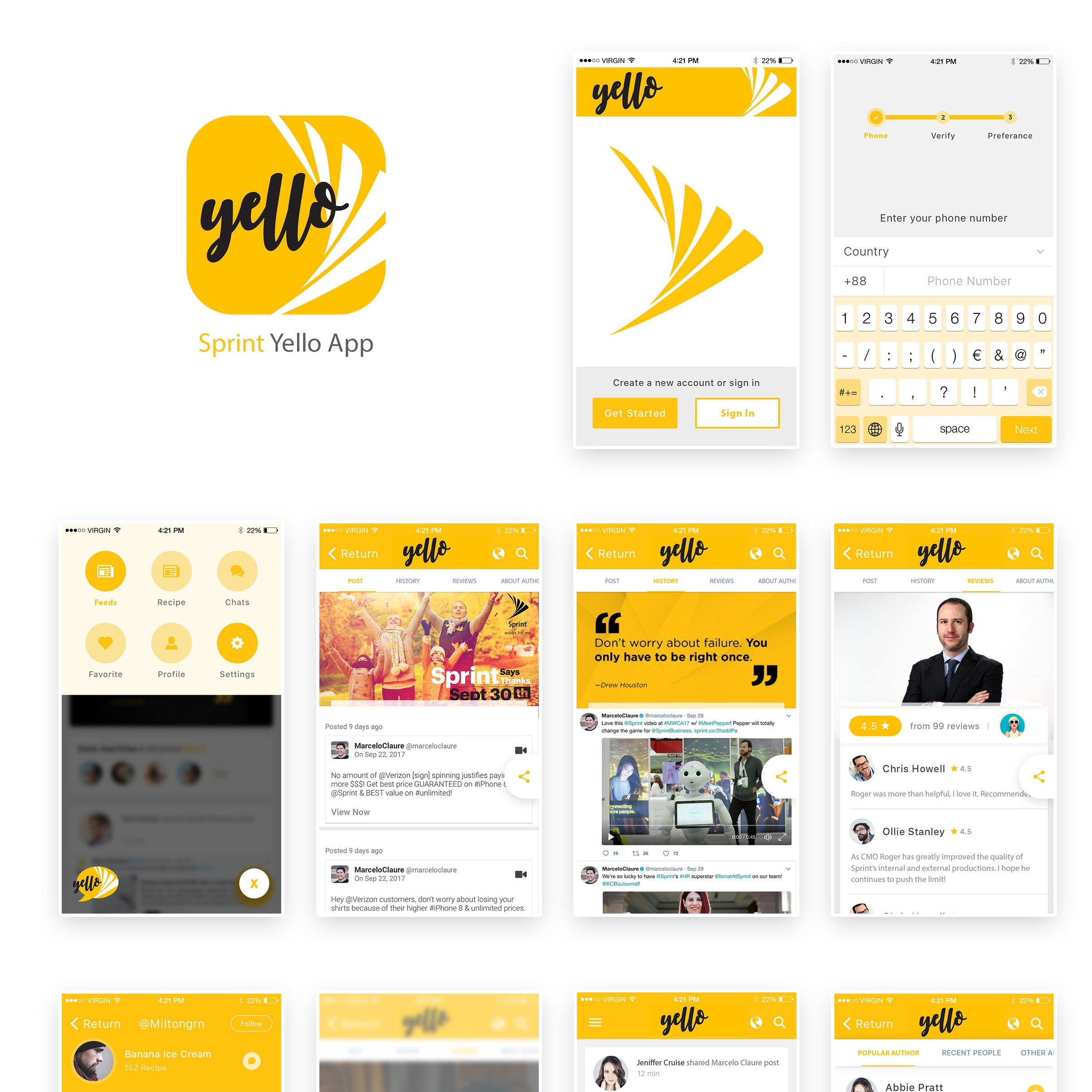 Sprint Campaigns - YellowFan Studios Sprint Marketing 2016-2018