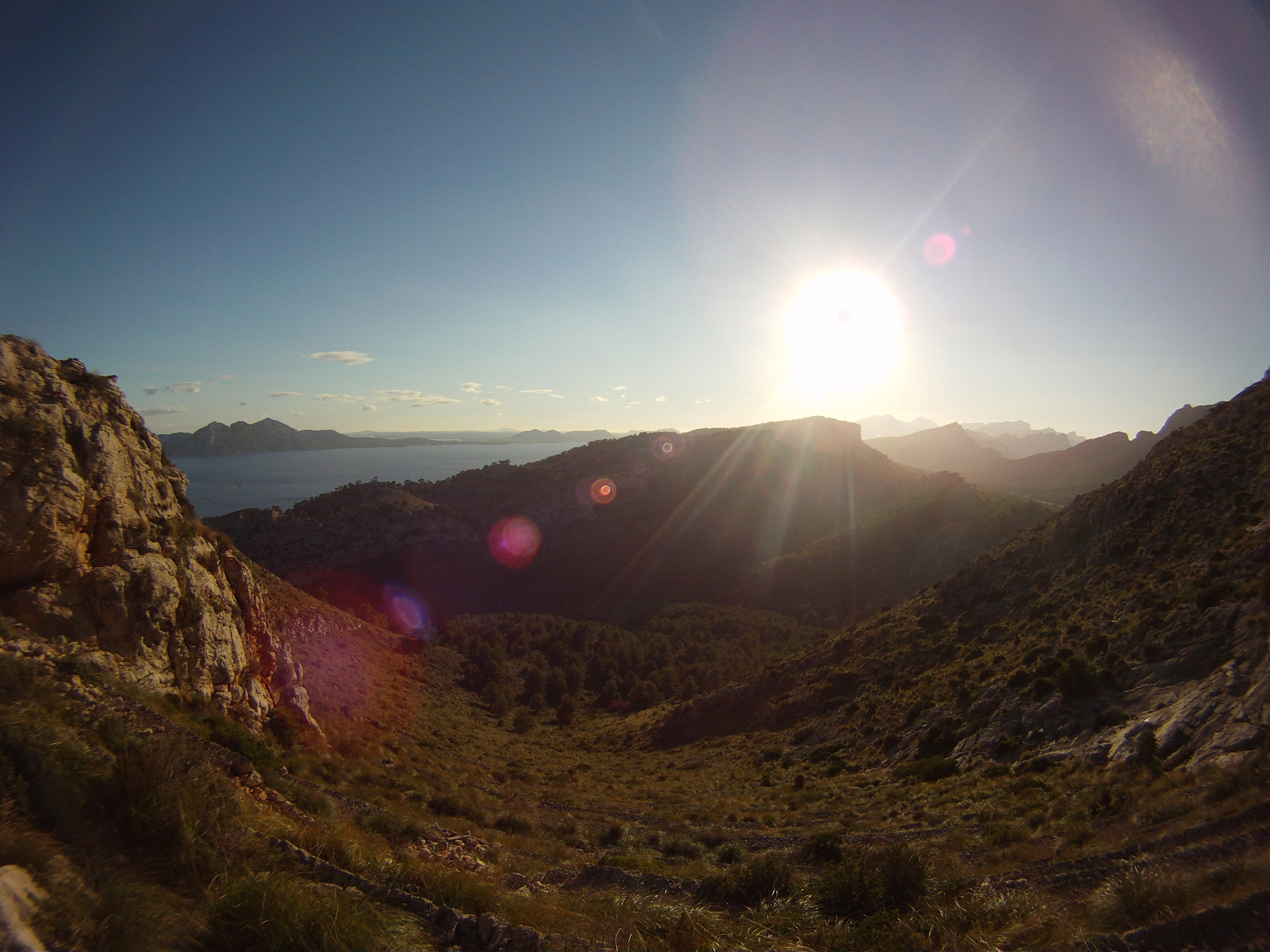 At the top of the hike in Formentor.