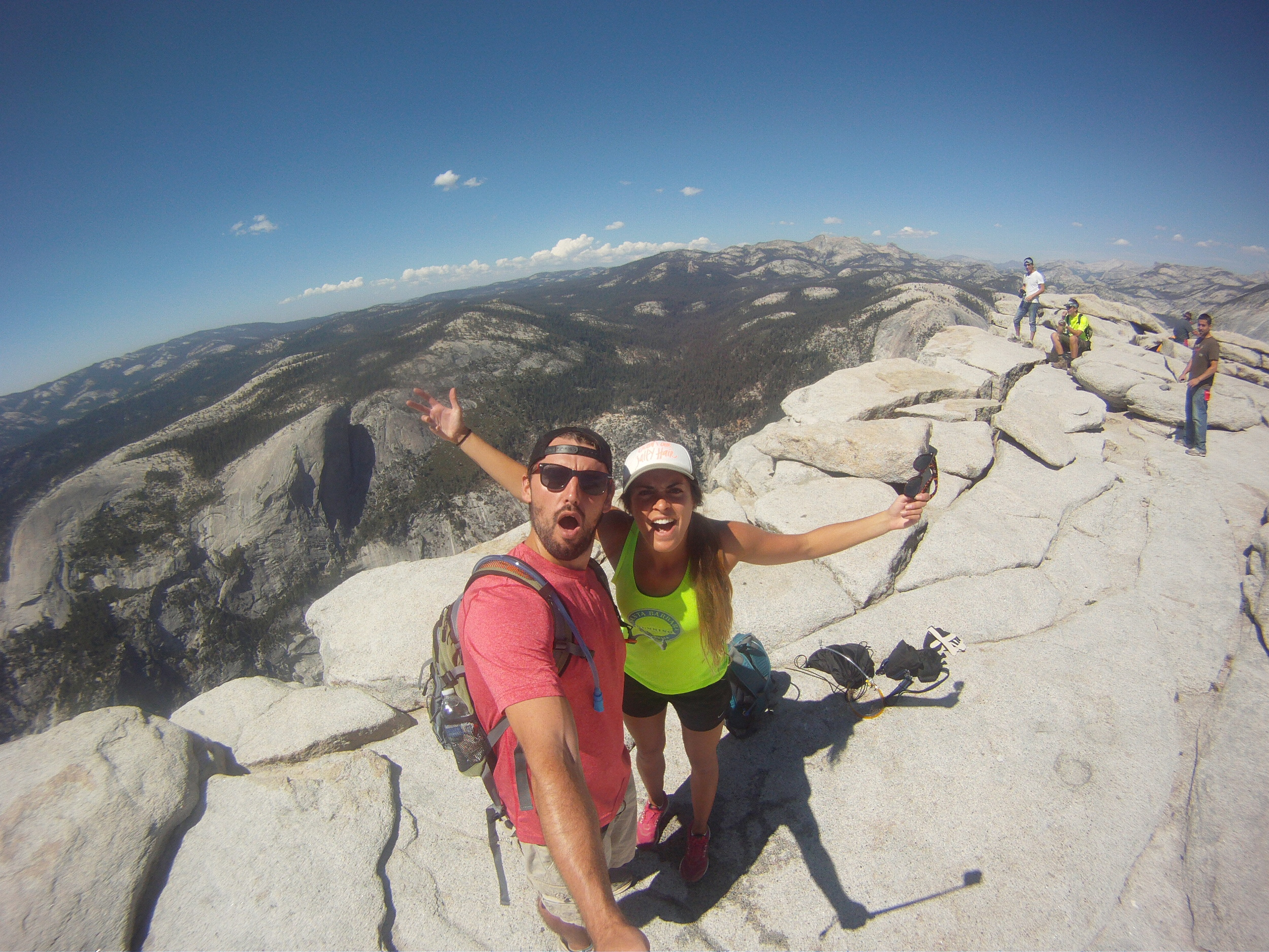 Ronnie and I on top of Half Dome in Yosemite