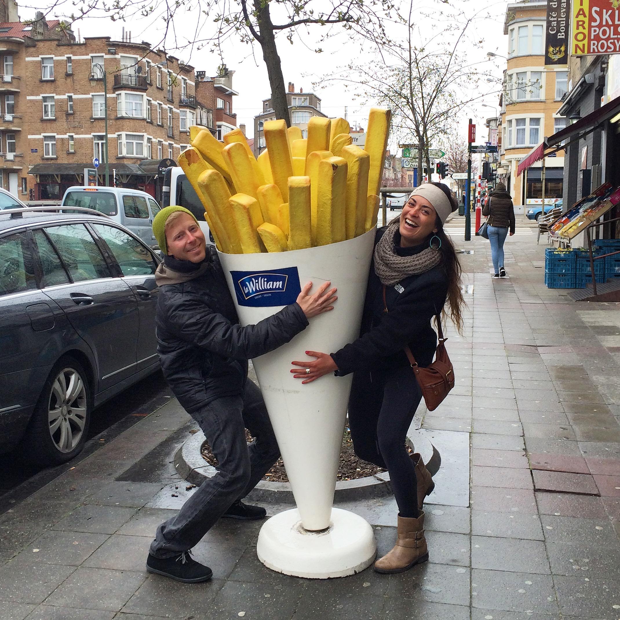 Gettin' down on the Belgian  pommes frites .