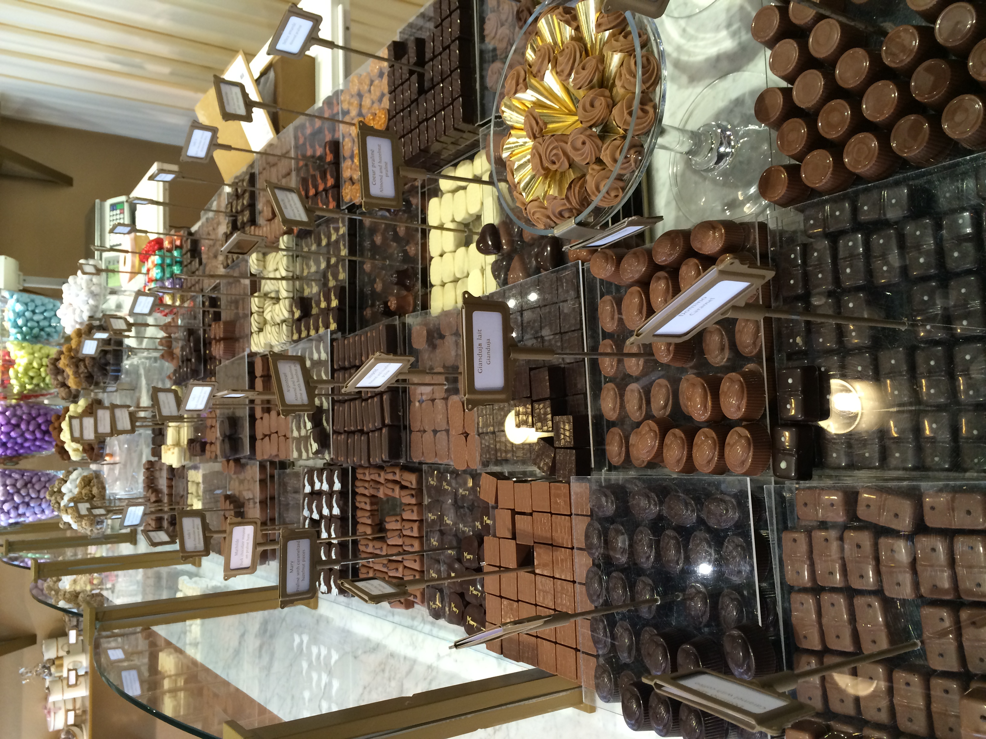 Chocolates at Mary in Bruges.