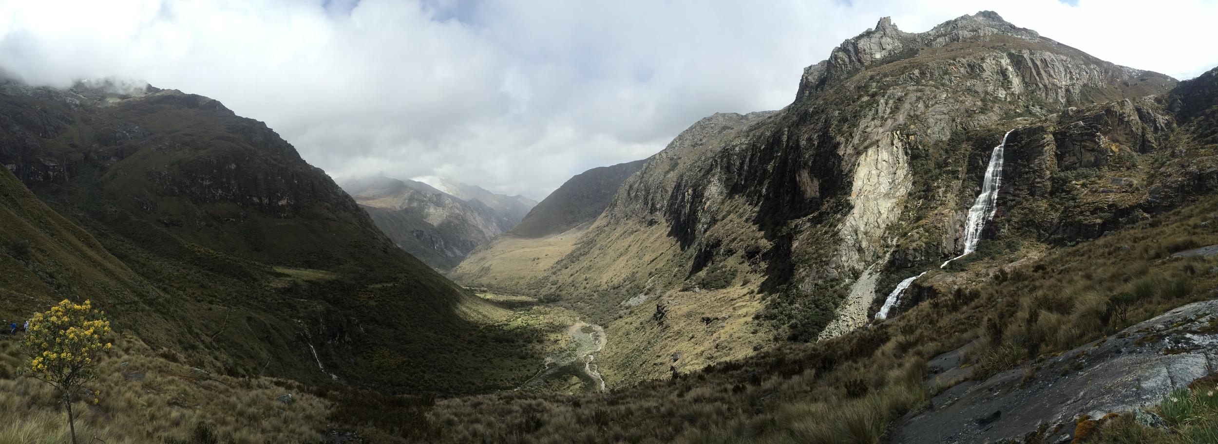 Hiking up to Lago 69 in Cordillera Blanca, Huaraz, Peru