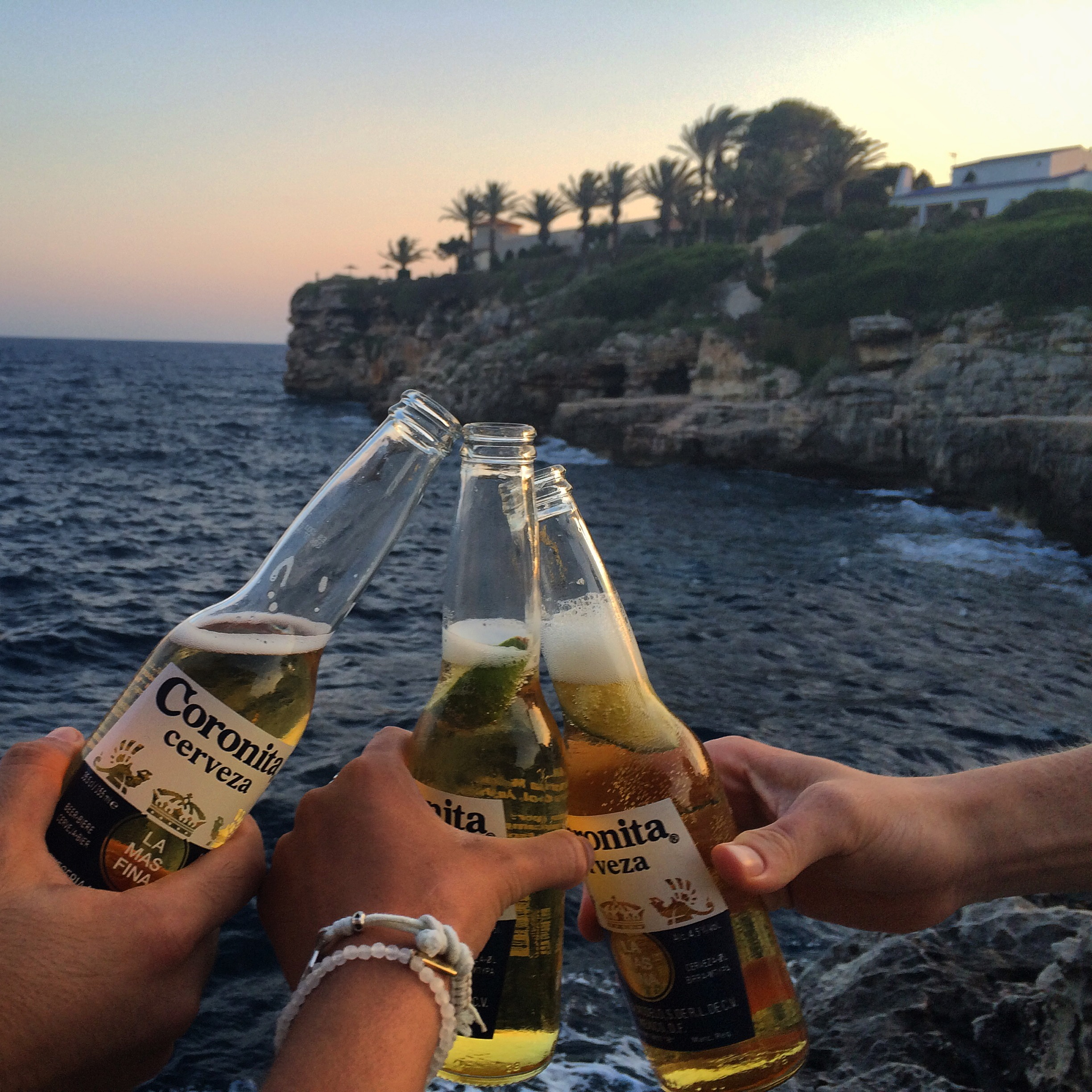Catching the sunset at Cala en Brut