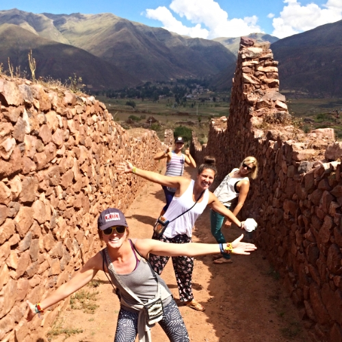 Goofing off in the Sacred Valley - Peru.