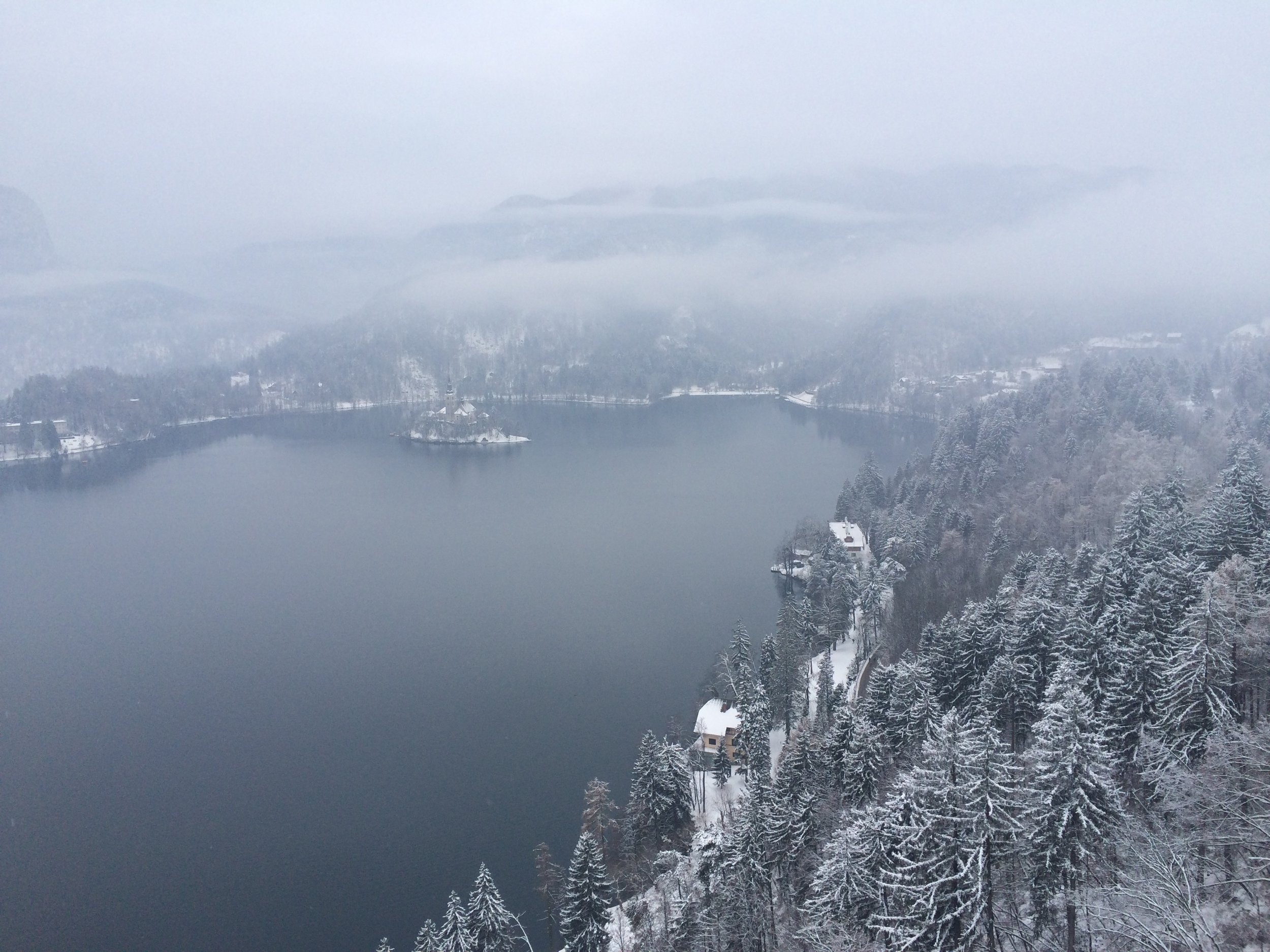 View from the Lake Bled Restaurant.