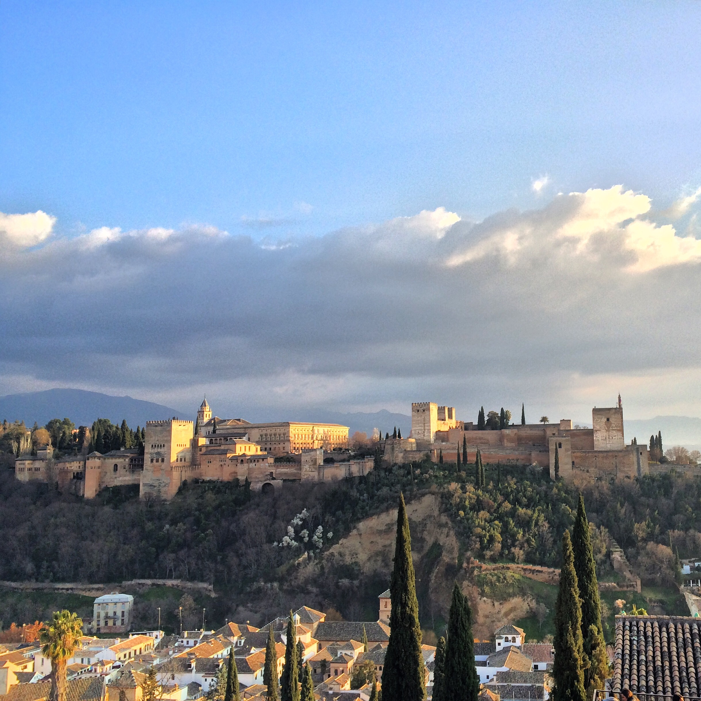 View of the Alhambra from Mirador San Nicolas