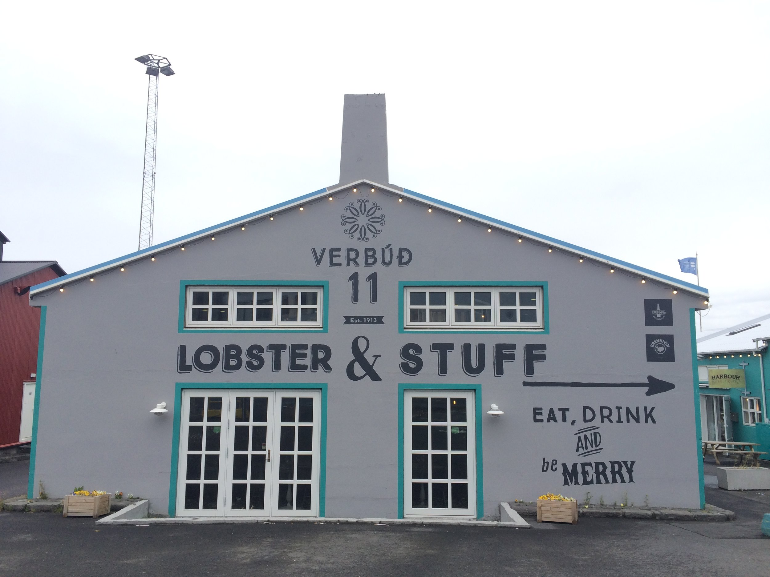 Lobster and stuff... I'm into it. Cute restaurant by the harbor, Reykjavík.