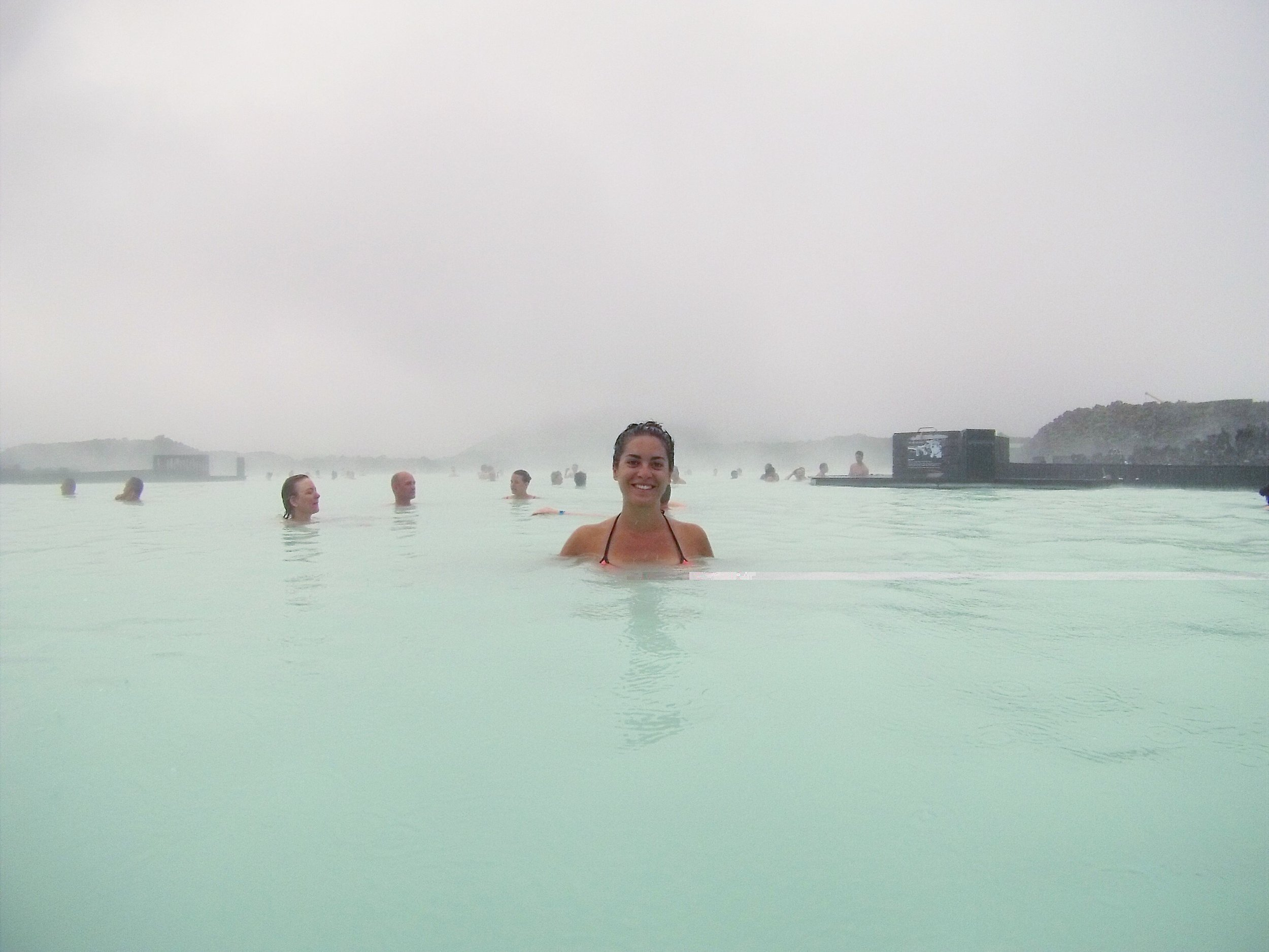 Getting my soak on at the Blue Lagoon.