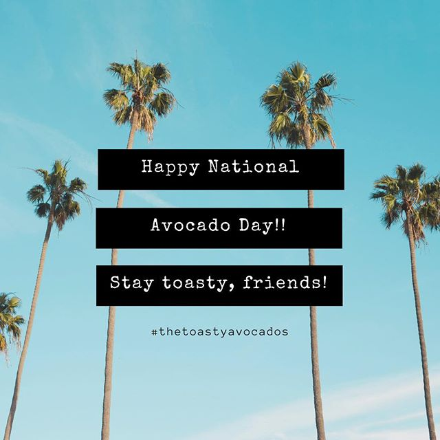 Our favorite day of the year!!! 🥑☀️🥑☀️🥑☀️🥑😘 . . . . . . . . . . . . . #monday #thetoastyavocados #avocado #avocadotoast #avolove #summer #july #instalove #nationalholiday #everydayisaholiday #blog #blogger #travelblogger #instamood