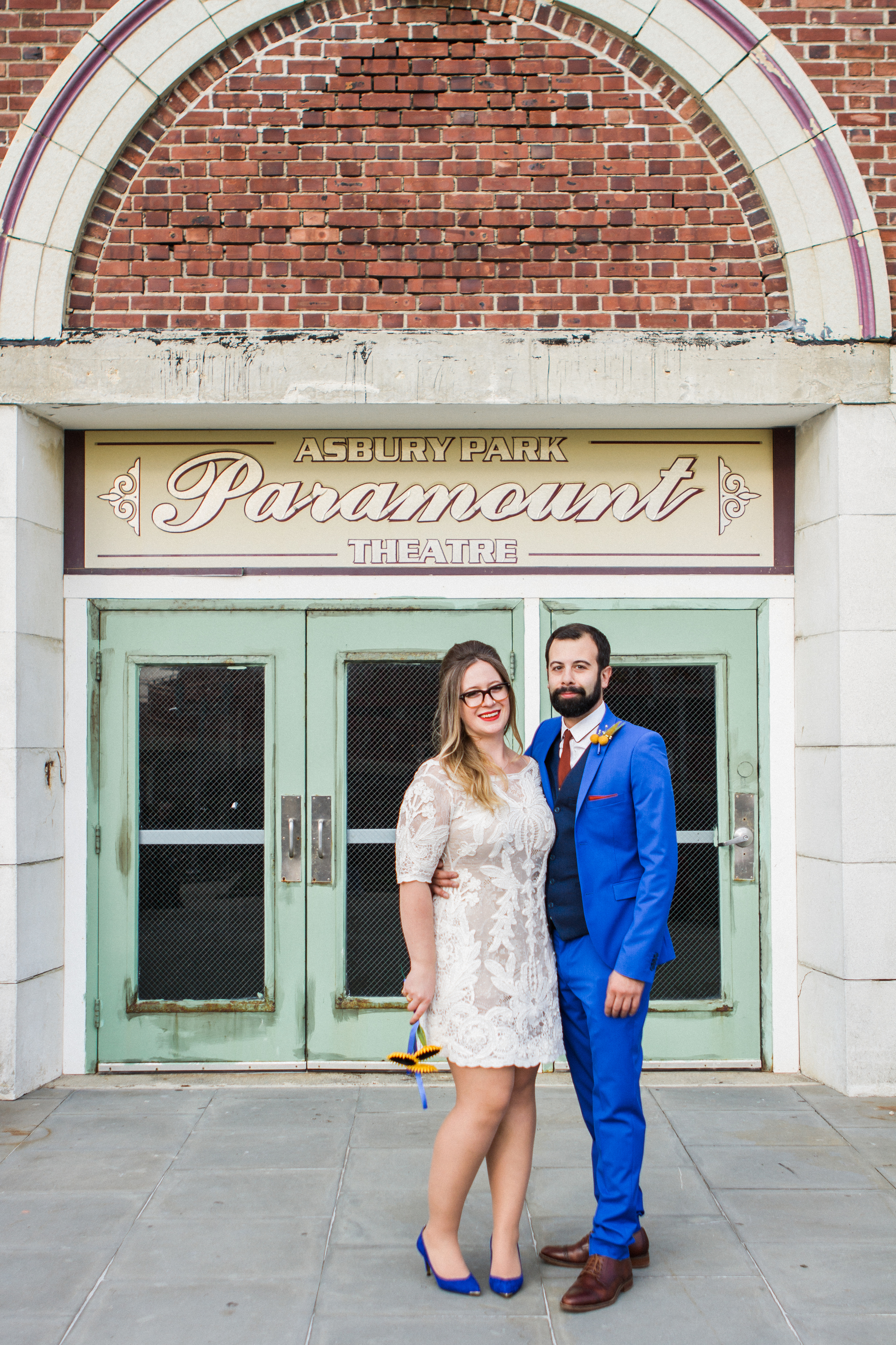 Victoria and Nick Asbury Park Boardwalk Tim McLoone's Supper Club New Jersey Shore Wedding Shannon Sorensen Photography