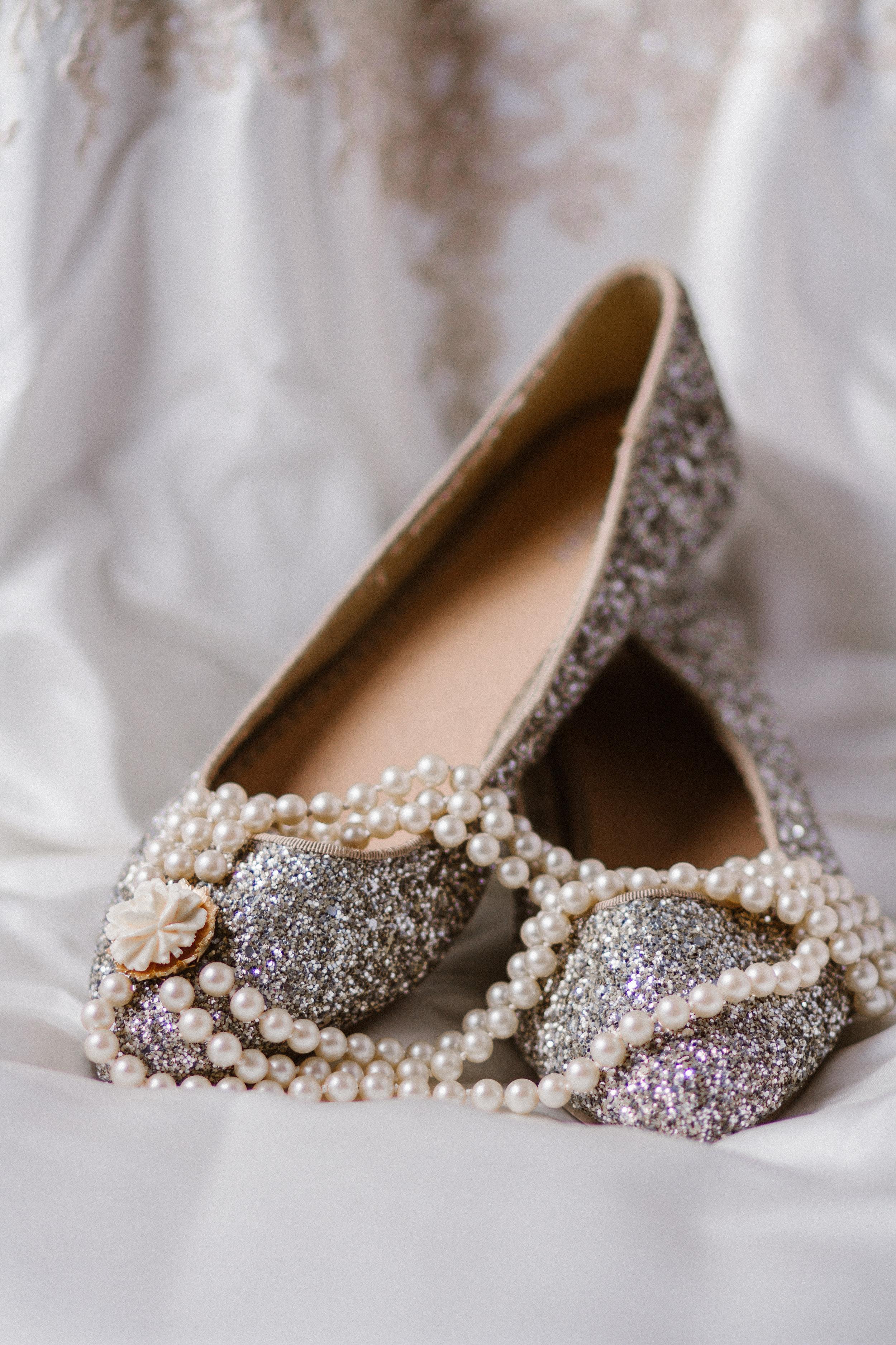 Wedding Bridal Accessory Shoe Jewelry Necklace Photographer Shannon Sorensen Photography