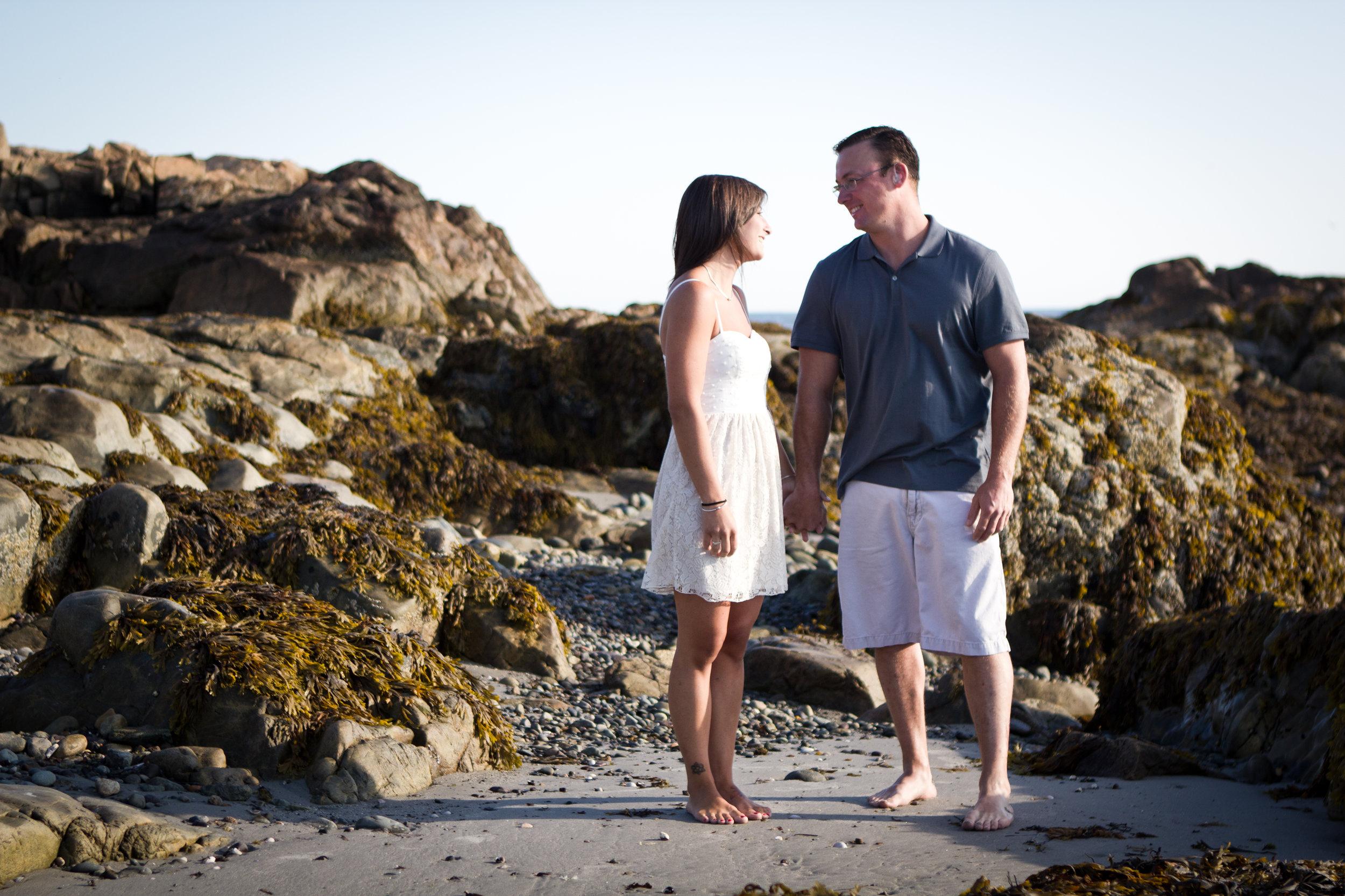 Erin and Mike Sandy Beach Cohasset South Shore Massachusetts Engagement Photographer Shannon Sorensen Photography