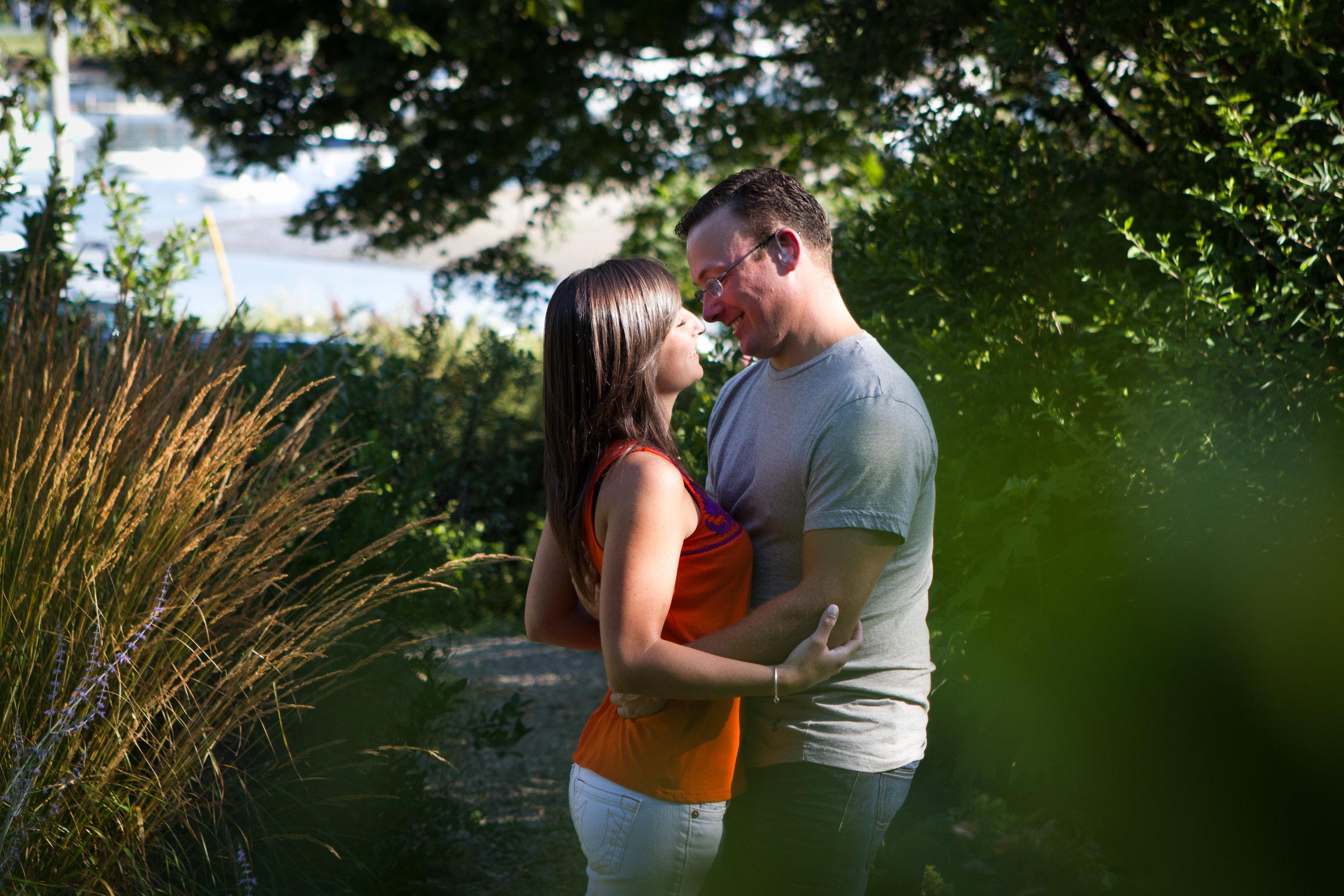Erin and Mike Sandy Beach Cohasset Harbor South Shore Massachusetts Engagement Photographer Shannon Sorensen Photography