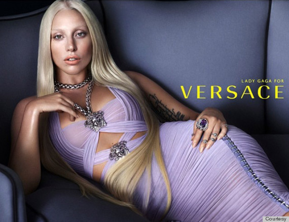 Lady gaga paid homage to donatella in this 2013 campaign.