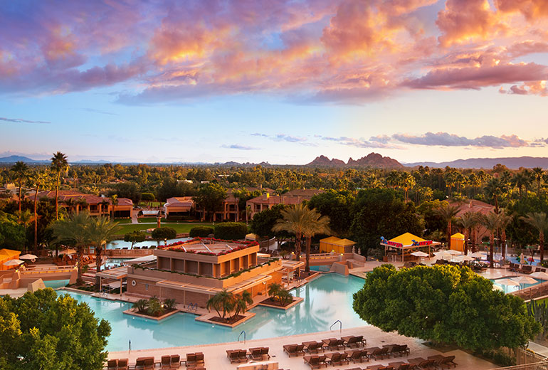 The Phoenician Pools & View