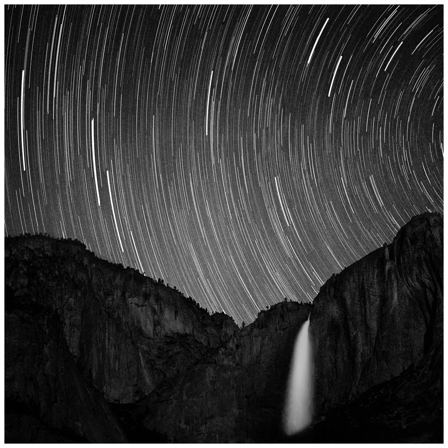 Star Tracks Over Yosemite Falls