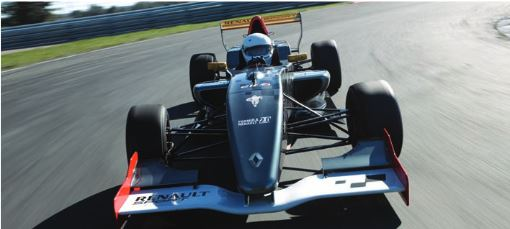 FORMULA RENAULT 2.0 - Chassis : CarbonEngine : Renault F4R832 - 4 cylinder - 16 valve - 1998ccMAX Power : 210 bhpSuspension : Front - single damper , Rear - double damperLength : 4270 mmWidth : 1740 mmWeight : 505 kgGearbox : Sadev 7 speed sequential + reverse gear