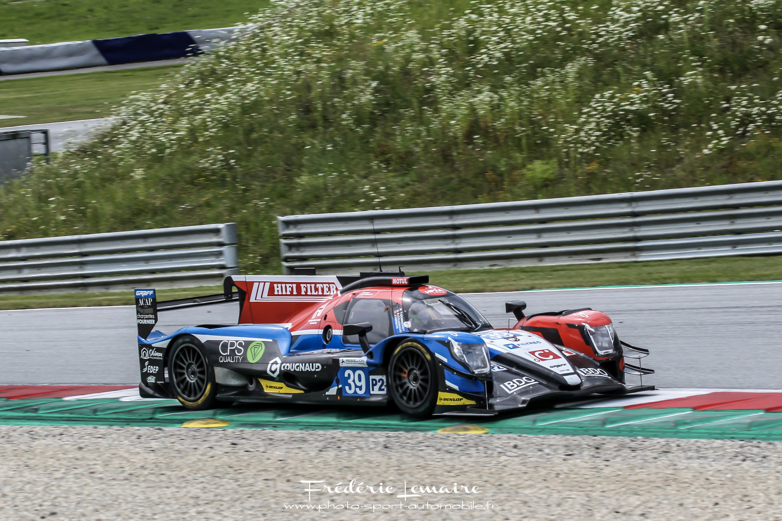 ORECA 07 - Chassis : Carbon monocoque and honeycombCrashbox : CarbonEngine : Gibson GK - 428 MAX Power : 603 bhpSuspension : Double wishbones with pushrodLength : 4650 mmWidth : 1895 mmWeight : 930 kgGearbox : Sequential 6 speeds steering wheel-mounted paddle shifts