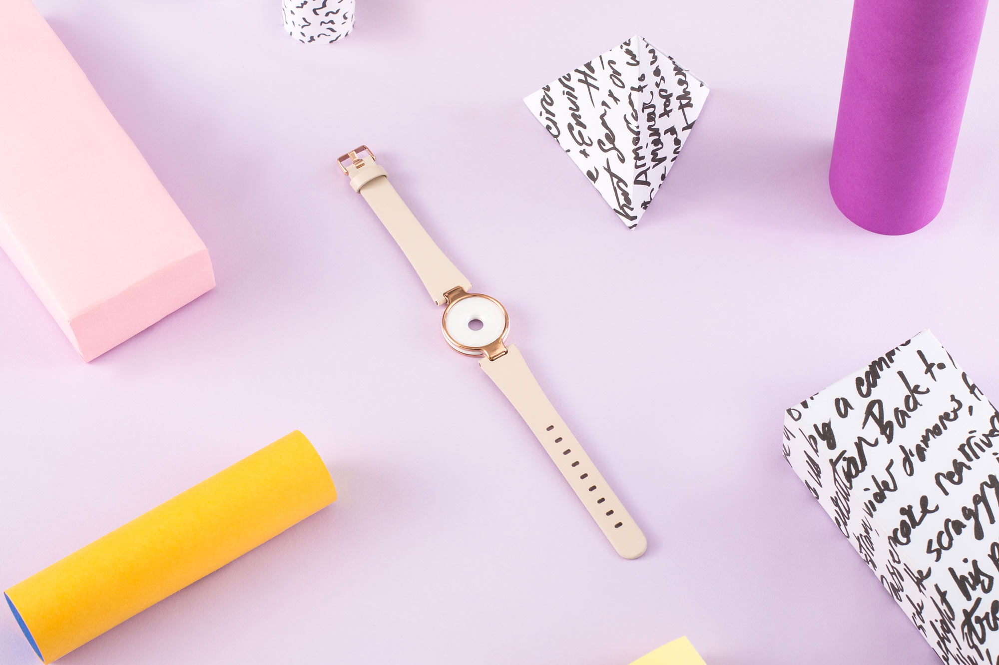 Crop of an image art directed, crafted, styled and shot for an  Amazfit  campaign.