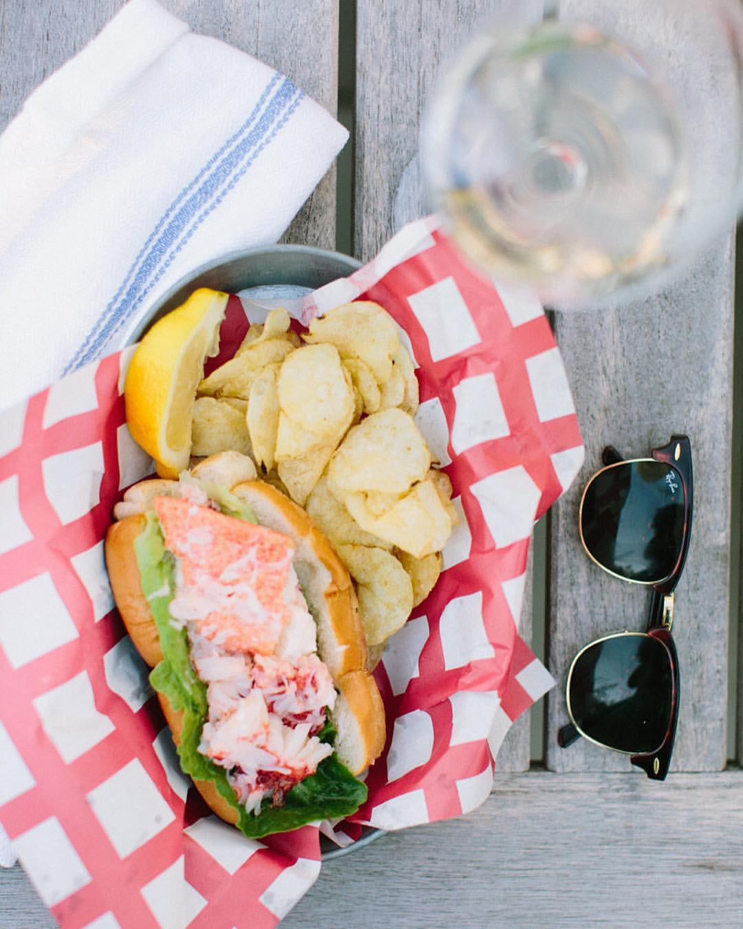 On a mission to see how many lobster rolls are too many. ⚓️❤️😎 | 📷: @erinmcginn (at Weekapaug Point -RI)