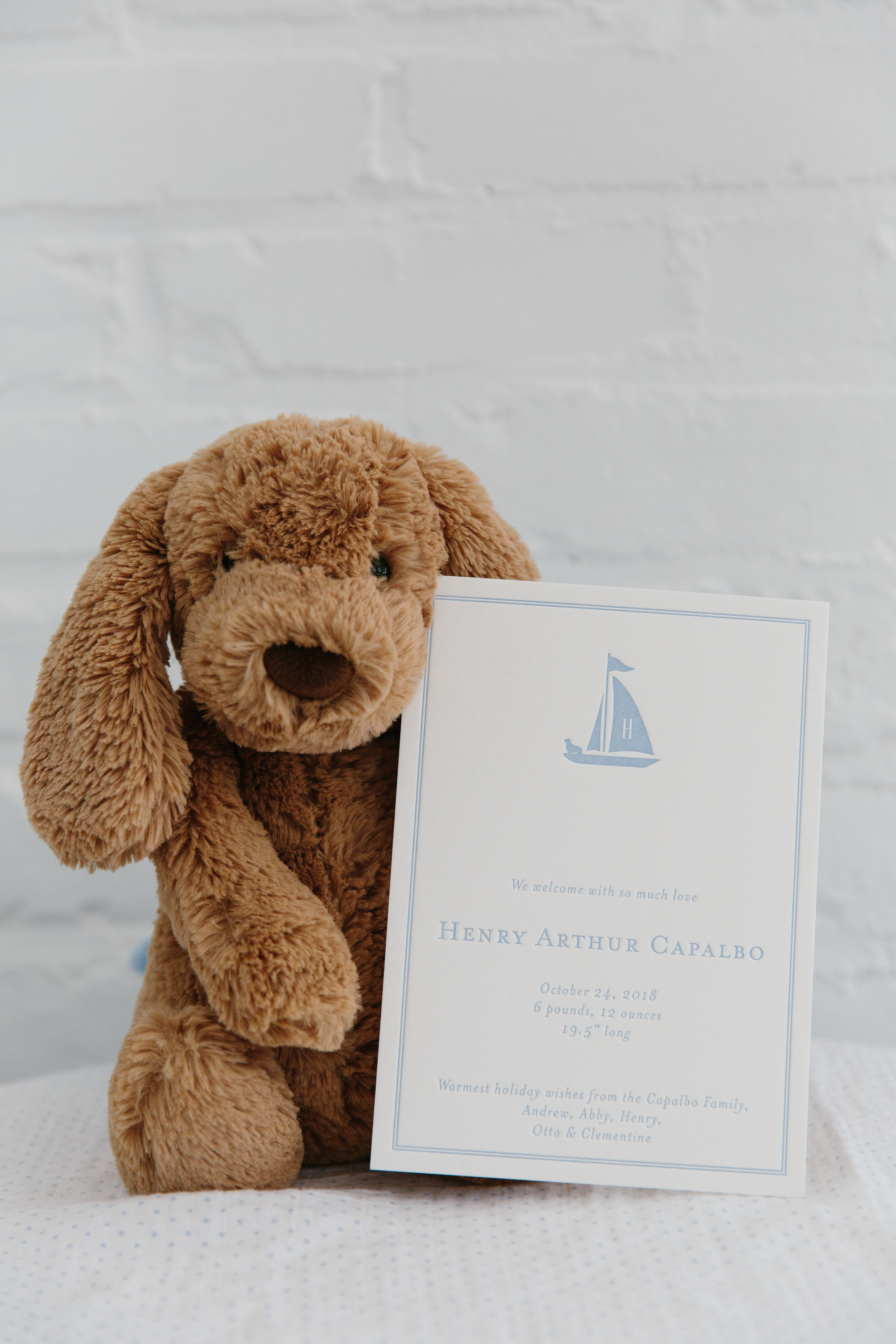 Classic Nautical New England Boy Birth Announcement from Abby Capalbo by Papermoss   Photography: Erin McGinn