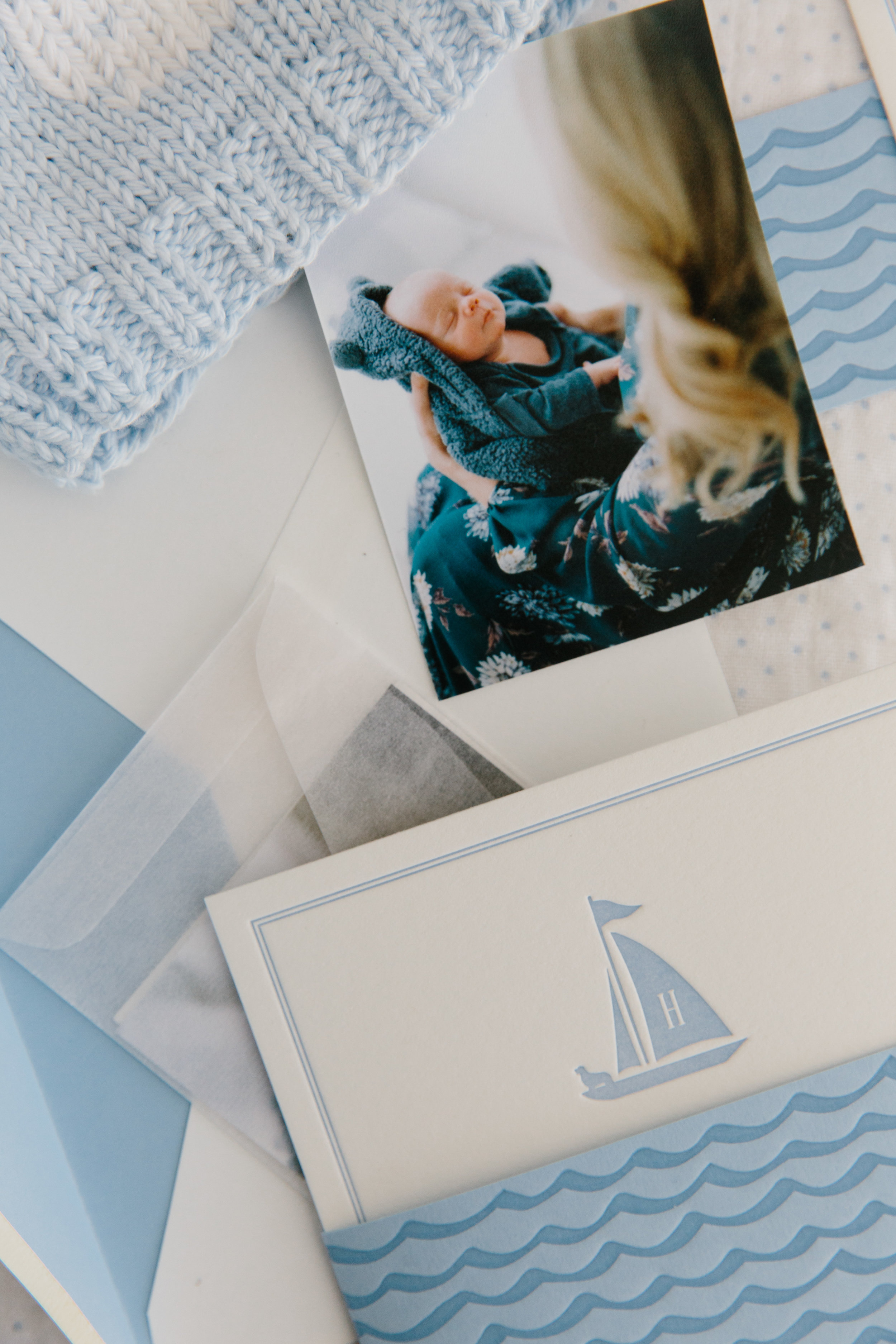 Classic Nautical New England Boy Birth Announcement from Abby Capalbo by Papermoss | Photography: Erin McGinn