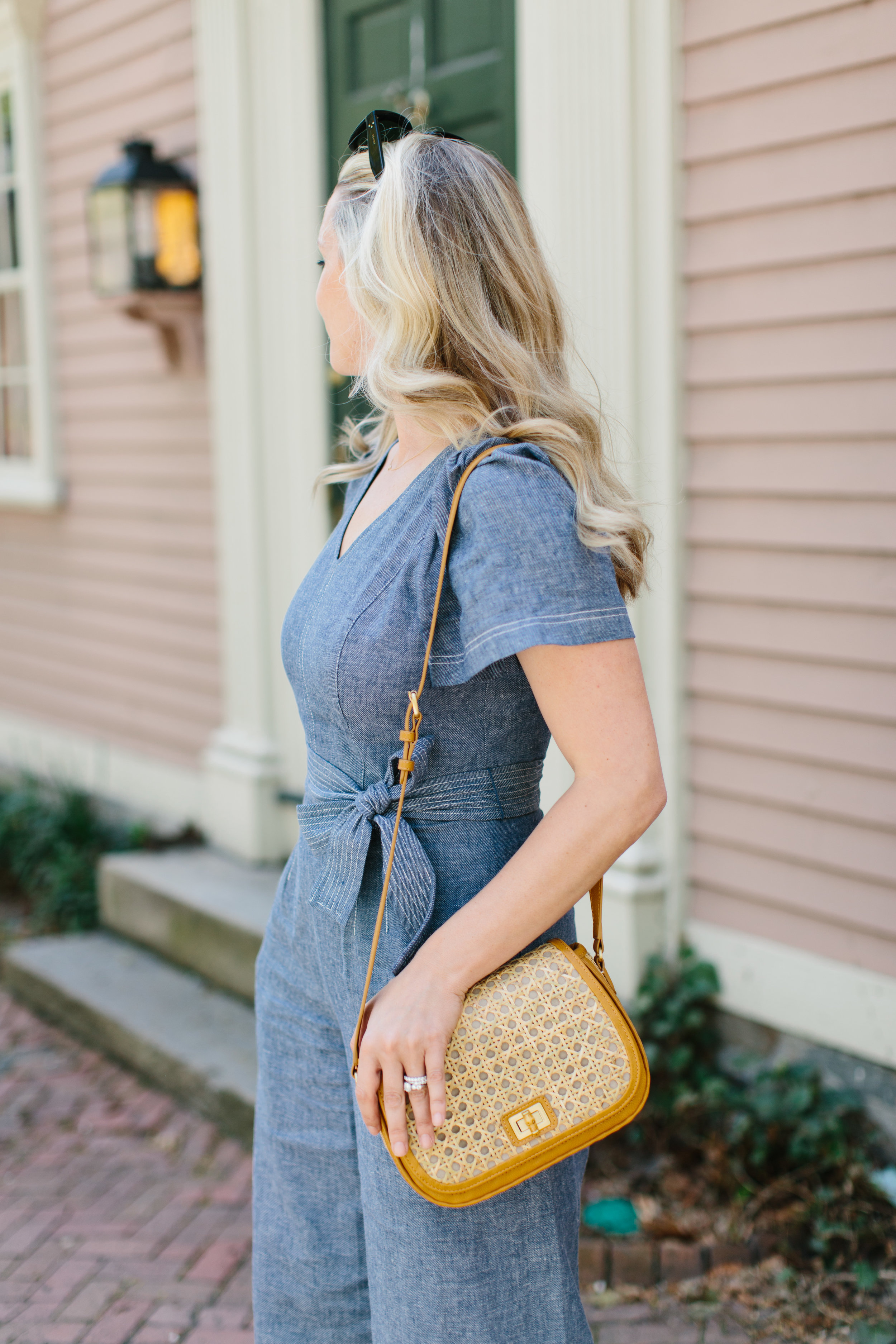 Spring in Providence with Abby Capalbo Chambray Jumpsuit | Photography: Erin McGinn