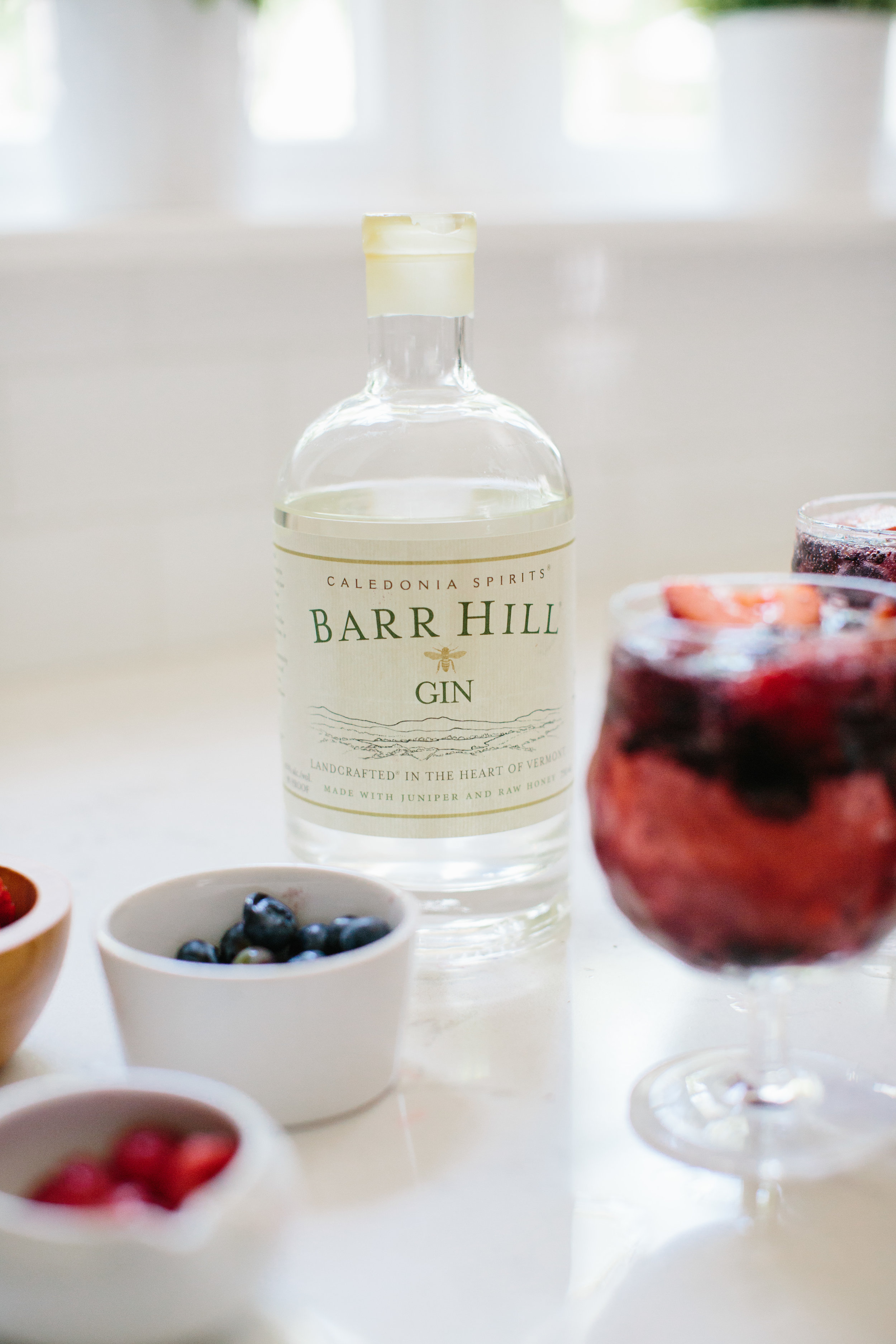 Summer Gin and Tonic Barr Hill Recipe Mixed Berry Cocktail by Abby Capalbo | Photography: Erin McGinn