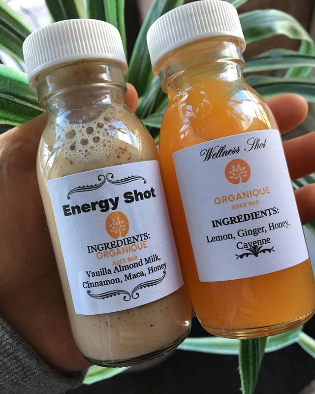 Try out our new Energy Shot!  This delicious shot of energy will wake you right up and replace the need to have that cup of coffee you may crave!  Both our wellness shots are now on promo for $3.99!  #blogto #insauga #healthylifestyle #wellnessshot #vegan #healthyrecipes #health #streetsville #mississauga #foodie