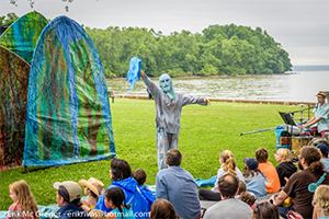 Arm of the Sea  is an arts ensemble that fuses visual storytelling with live music in contemporary works of mask and puppet theater. Their large-scale multi-layered productions delight and inform audiences of all ages. We are thrilled to welcome them to their second Summer Hoot!