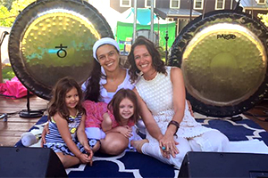 First thing each morning you will hear the meditative and healing sounds of two gongs ring out across Hoot Hill to bless the entire festival site. Love Waves is comprised of Neslihan Sukh Inder Lord and Theresa Widmann, Kundalini Yoga teachers from  Anahata  in Kingston. Love Waves is so very grateful to be a part of the magic of the Hoot and for the opportunity to bathe all Hootsters with the healing sounds of the gongs.
