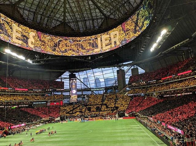 Tonight, Atlanta United plays in New Jersey for a berth into the MLS Cup Final. This beautiful shot by Jeremiah Prescott (@thejkulani) was taken during their last home playoff game on Sunday, when they defeated the New York Red Bulls 3-0 before a frenzied crowd of 70,016. We are so excited by how this team has brought this city together.